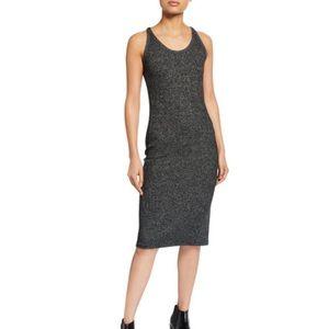 NWT Rag and Bone Heathered black racerback dress